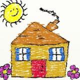 childs σπίτι απεικόνιση αποθεμάτων