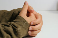 childs χέρια από κοινού Στοκ Εικόνες