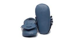 Childs освещает - голубые добычи на белой предпосылке Стоковое фото RF