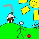 childs画 免版税库存照片