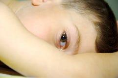 Childs Auge stockbilder