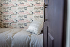 Childs Bedroom. Single room for a child in a suburban house Stock Photo