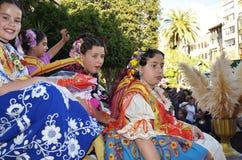 Childs bij Pasen optocht in Murcia stock foto