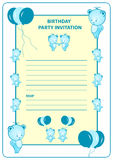Childs birthday party invitation Stock Photography
