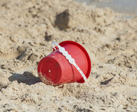 Childs bucket on a tropical beach Stock Photography