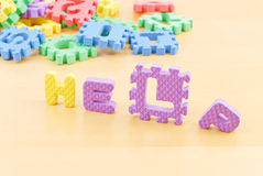 Childs Cry for Help. Made With Foam Letters Stock Photo