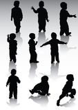 Childs do og da silhueta Imagem de Stock