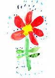 Childs Drawing of Flower Royalty Free Stock Image