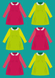 Childs dress cartoon  Stock Photo