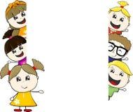 Childs e bordo dello spazio in bianco Fotografia Stock