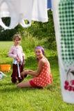 Childs en campo Foto de archivo libre de regalías