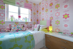 Childs fashionable bedroom Royalty Free Stock Image