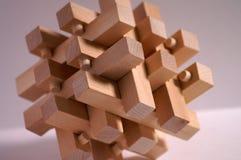 Childs hölzernes Puzzlespiel Stockfotografie