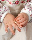 Childs hands Stock Image
