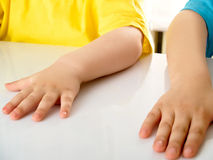 Childs hands Stock Photo