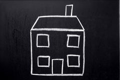 Child's house drawing. Stock Photography