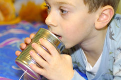 Childs kan telefoneren Royalty-vrije Stock Afbeelding