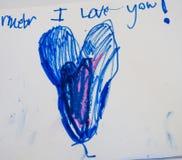 Childs karta Zdjęcie Royalty Free