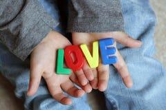 Childs miłość Zdjęcia Stock