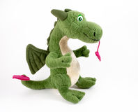 Childs mjuka Dragon Toy Arkivfoto