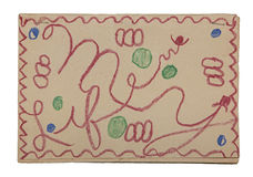 Childs My Life Book cover stapled Stock Images