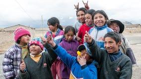 Childs péruviens Images libres de droits