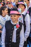 Childs at the parade of the Swabian folk costumes. TIMISOARA,ROMANIA-JUNE 16, 2019: Childs at the parade of the Swabian folk costumes on the occasion the days of stock image
