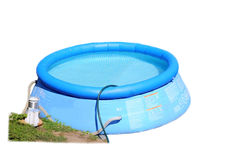 Childs plastic swimming pool. Stock Image royalty free stock photography