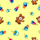 Childs play. Seamless vector texture with childs play. You can create the wallpaper with this pattern Royalty Free Stock Images
