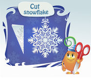 Childs play  cut snowflake Royalty Free Stock Photo