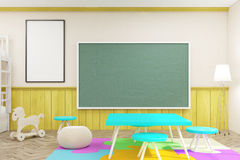 Childs room with poster Royalty Free Stock Photography
