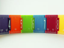 Childs Ruler. Kids colourful ruler showing measurements Royalty Free Stock Image