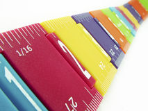 Childs Ruler. Kids colourful ruler showing measurements Stock Images