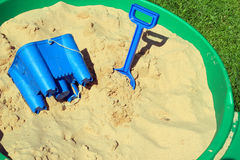 Childs sand pit. Royalty Free Stock Image