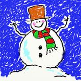 Childs snowman royalty free illustration