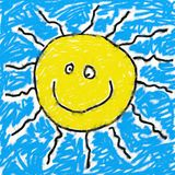 Childs sun Royalty Free Stock Photo