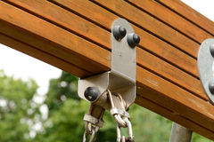 Childs swing support mechanism Stock Photography