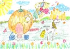Childs teckningsfe av en saga Royaltyfria Foton