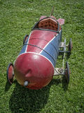 Childs Toy Car. An old homemade rocket ship from the 1950s Stock Image