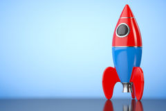 Childs Toy Rocket. 3d Rendering Royalty Free Stock Image