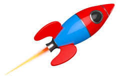 Childs Toy Rocket. 3d Rendering Stock Images