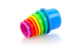 Childs Toy Stacking Cups Royalty Free Stock Images