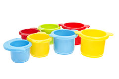 Childs toy stacking cups  Royalty Free Stock Photos