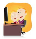 Childs und Computer Lizenzfreies Stockfoto