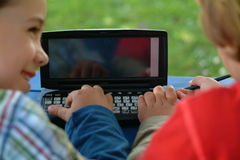 Childs und PDA Stockfoto
