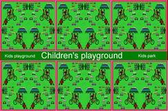 Childs värld Illustration bakgrund vektor illustrationer