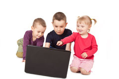 Childs whit laptop Stock Photography