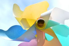 Childs windmill toy Royalty Free Stock Photo
