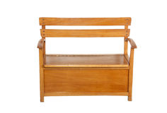 Childs Wooden Bench with Storage Compartment under Seat Stock Image