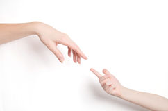 Childss und der Hand des Erwachsenen Stockfotos